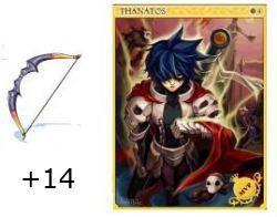 +14 Arco Gigante com Carta Mvp Memória de Thanatos