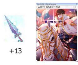 +13 Lâmina Sagrada com Carta Cavaleiro Branco